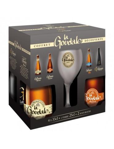 Coffret Goudale 4x33CL + 1 verre + 3...